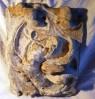 retábulo sacro , 24 x 33 cm, decorativo, p pendurar em parede, representa arte sacra, não sabemos a procedência nem a data.