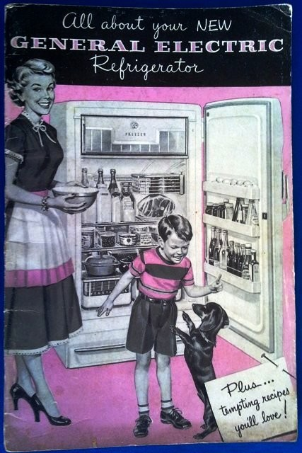GENERAL ELETRIC 1950 REFRIGERATOR MANUAL & RECEIPES