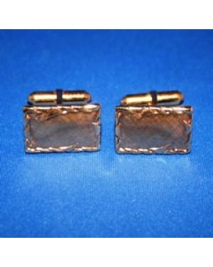 abotoaduras p punho de camisa, com formato retangular, metal dourado,como uma moldura de quadro,perfeito estado.Peças de 1990.
