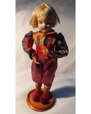 Boneco antigo Holanda, traje típico,biscuit e tecido manual, comprado em 1960, perfeito estado, relíquia para coleção.