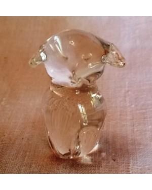 cristal-cachorrinho translúcido,perfeito estado tchecoslováquia 1980, mede 4 cm altura !