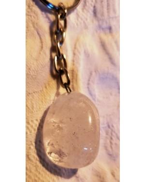 chaveiros em ágata - 2 peças  quartzo branco -bege e outro ametista, , correntes em metal niqueladas ,sem uso, pedras de sorte , perfeito estado !