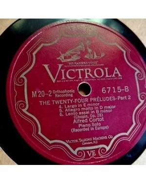 Chopin 24 Preludes, RCA Orthofonic Record, 78 rpm álbum 4 discos Grandes, baquelite, ótimo estado . Tenho 500 similares a anunciar aqui
