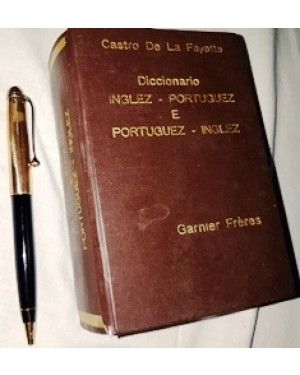 dicionário ingles ~portuguez & portuguez - inglez, 1950/60, de pequeno porte, 402 páginas, autor Castro De LA Fayette, editado por Darnier Freres. bom estado.