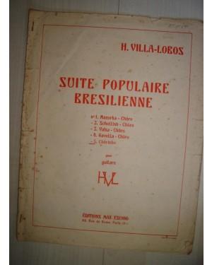 PARTITURA DE VIOLÃO (f)PARTITURA DE VIOLÃO,C/ MUSICAS BRASILEIRAS. FEITO NA FRANÇA. 1956. (SUITE POPULAIRE BRESILIENNE / H. VILLA-LOBOS)