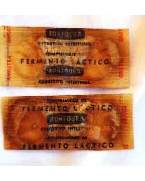 farmácia antiga, 2 envelopes de FERMENTO LÁCTEO, laboratório Fontoura, 1960.P coleção ou museu