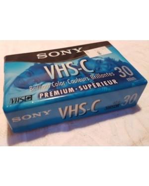 Fita VHS-C Sony Premium 30 minutos TC-30VHGL  . Fotos reais do produto anunciado.  Fita Virgem  e Lacrada.  Tempo de gravação SP 30 minutos EP 90 Minutos