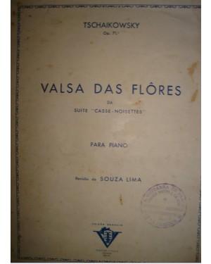 """PARTITURA DE PIANO (l)  PARTITURA """"VALSA DAS FLORES"""" ( TSCHAIKOWSKY) P/ PIANO. ANOS 50."""