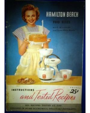 HAMILTON BEACH FOOD MIXER RECEIPS MANUAL 1948