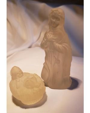 Nossa Senhora e Jesus menino, acrílico p cabeceira, translúcidos ,lindo, pode iluminar com qualquer cor. perfeito estado.