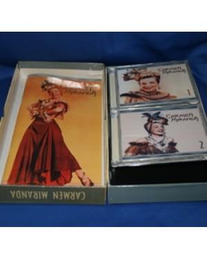 jogo especial da cantora Carmen Miranda,sendo 3 cd ,falta um, e também com um livro com sua biografia,mede 32 x 17 cm.