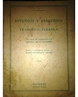 PARTITURAS ESTUDIOS Y PRELUDIOS de Francisco Tarrega, para violão.