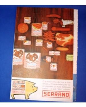 serrano, folheto de propaganda e receitas,1960 aprx,bom estado!