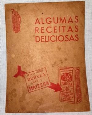 maizena duryea, folheto original c dicas e receitas do produto,1940 , mede 11 x 16 cm ,raridade!...10 páginas, perfeito estado.