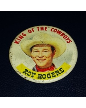 roy rogers botton, 1959, original,bom estado metal,bom estado, made in USA, mede 40 mm de diâmetro, alfinete atrás, perfeito e raro.