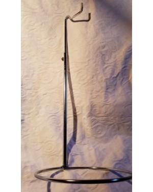 suporte em metal ,genérico, multi funcional, altura regulável, vai de 42 a 70 cm.