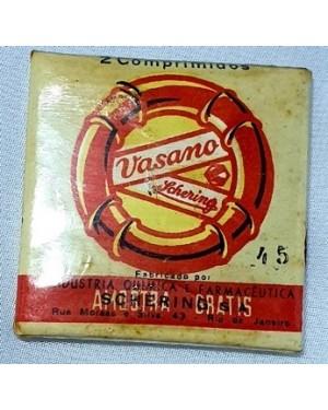 vasano , remédio 1940 embalagem lacrada ,coleção ou museu, ainda com celofane lacrado, fabricado pelo laboratório Schering S/A