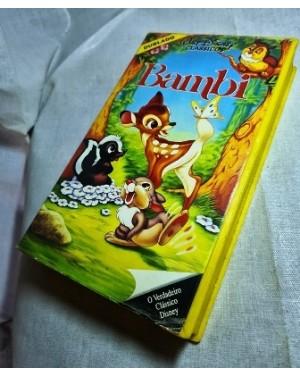 Vhs  BAMBI Dublado, original Walt Disney- Abril- 67 Min Cor NTSC na caixa, Ok