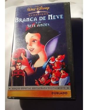 Branca de Neve 7 anões VHS, Walt Disney,dublado 83 min Ok!