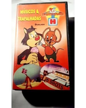 Músicos & Trapalhadas, VHS dublado Harvey Toons original , 30 minutos, bom estado Star Vision.