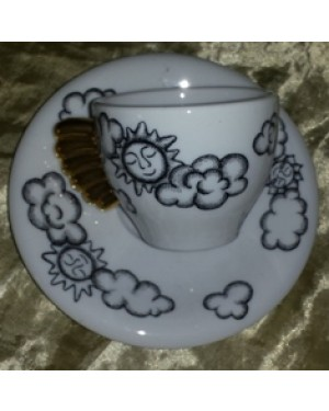 xicara p café  italiana vuolo, perfeito estado e lingo design
