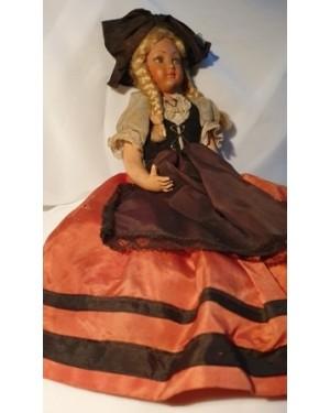 boneca alemã, biscuit tecido manual, 1960 hand made,coleção