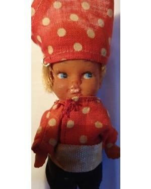 boneco antigo, menino  chapéu triangular Europa 1960 coleção , mede 12 cm , plástico e tecido, hand made.