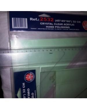 kit esquadros trident e régua 40 cm sem uso em acrílico ,no envelope original, sem uso.perfeito estado