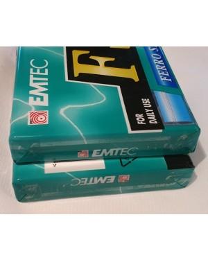 fita cassete virgem EMTEC ferro standard 2 unidades 60 min