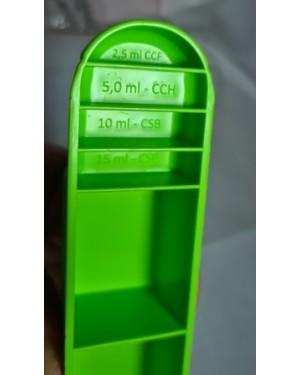 Medidor culinário multiuso, tabela medidas plástico, usado . Marca Poly Play