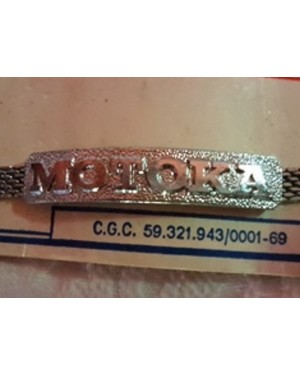 Motoka Pulseira Metal Cromado P Motociclistas Antiga S/uso
