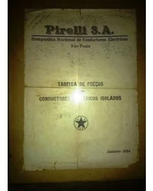 PIRELLI S.A. PAPEL 1934