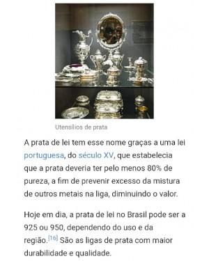 porque a PRATA escurece?   https://pt.wikipedia.org/wiki/Prata