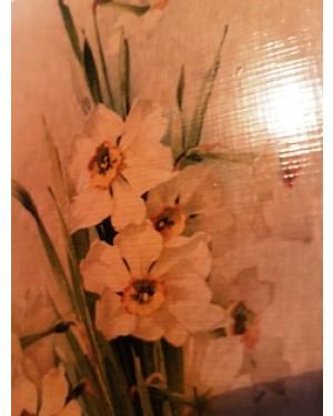 quadrinhos (3)  de cenas florais de seculo passado, muito bem compostas sobre madeira, sépia, lindos e decorativos,perfeito estado,