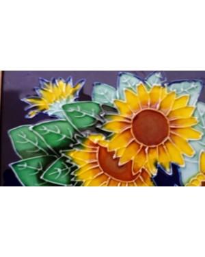 porcelana, flores, enquadradas com moldura em madeira, 19 x 27 cm aprx,perfeito estado.