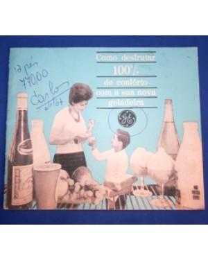 ge, geladeiras, folheto de 1958 aprx,bom estado ,raríssimo