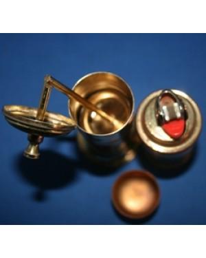 paliteiro e porta isqueiro BIC, para mesa,em metal dourado,1970,apresenta as marcas de uso, raridade!