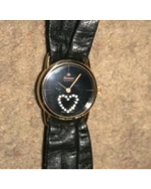 relógio elegante, feminino.quartz,marca HANOWA, pulseira em couro autêntico, made in SWISS, revisado e c garantia, mede de diâmetro 27 mm.