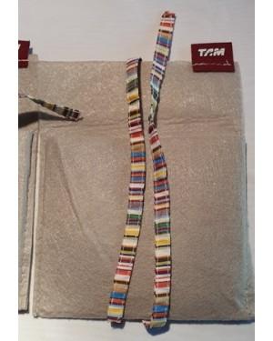 TAM sacolinhas ganhas a bordo dos aviões da TAM, perfeito estado, para coleção aeronáutica. 2 peças. medem 15 x 19 cm, tecido misto, com logotipo e fita p fechamento.