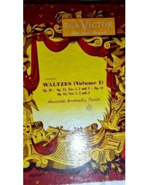 Waltzes Valsas vol.1, RÇA , 78 rpm, G, Alexander Brailowzky , `pianist, 4 discos, álbum Baquelite, bom estado, antigos, comprados na Mesbla.