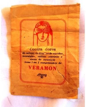 veramon, farmácia antiga, envelope original antigo p coleção