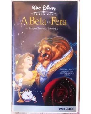 A Bela e a Fera dublado VHS WALT DISNEY 84 min, cor original