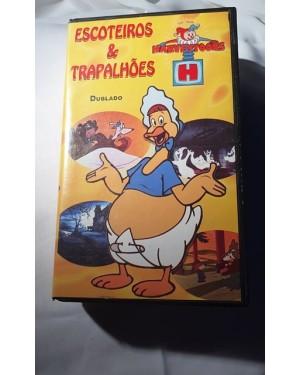 Escoteiros & Trapalhões, VHS dublado Harvey Toons original, Star Vision, 30 minutos, bom estado.