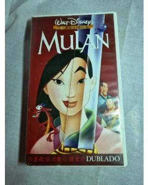 Vhs Mulan, Walt Disney, dublado, 88 m, HIFI Stereo original perfeito estado na caixa.