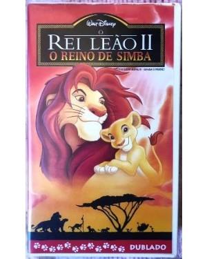 Rei Leão II dublado VHS NSTC WALT DISNEY 82 min, cor original, bom estado!