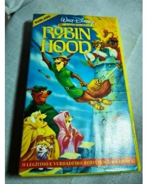 VHS Robin Hood, Walt Disney, original HIFI NTSC 83 min , na caixa, bom estado!