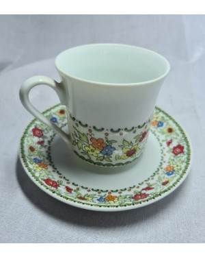 xícara porcelana fina floral Real 1960 p coleção ok